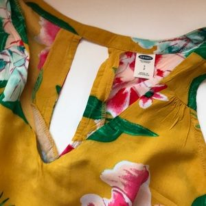Old Navy Tops - Mustard Floral Print Tank Blouse